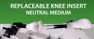 MITA KNEE VIDEO - Replaceable knee insert neutral joint line anatomy